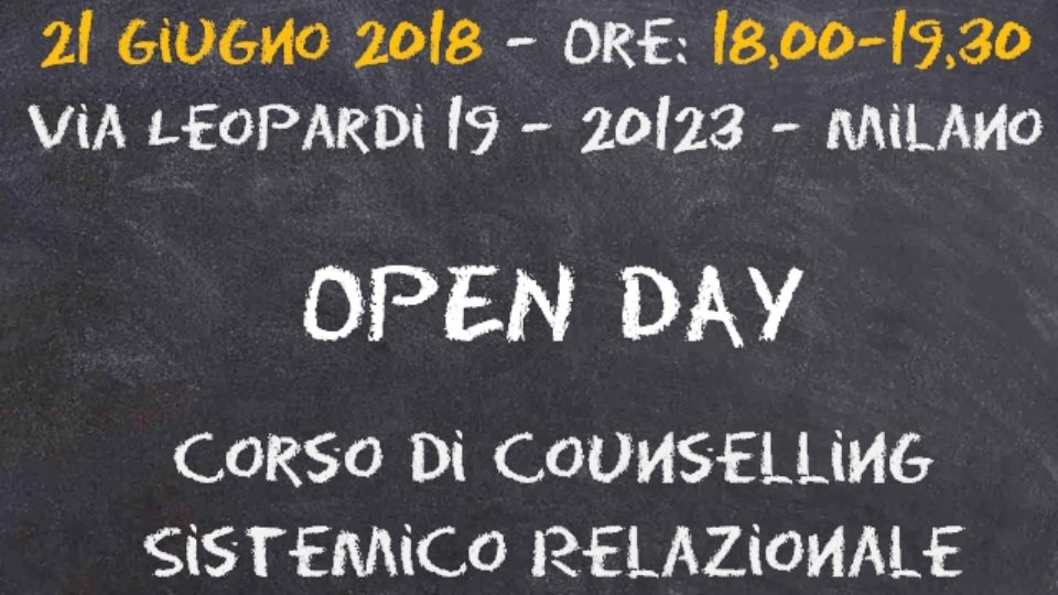 Open Day Corso Counselling 2018-2019