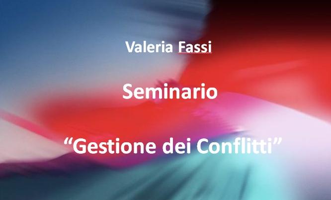 Seminario Gestione Conflitti