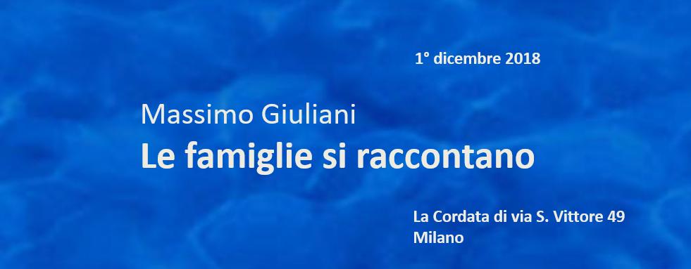 Massimo Giuliani – Le famiglie si raccontano