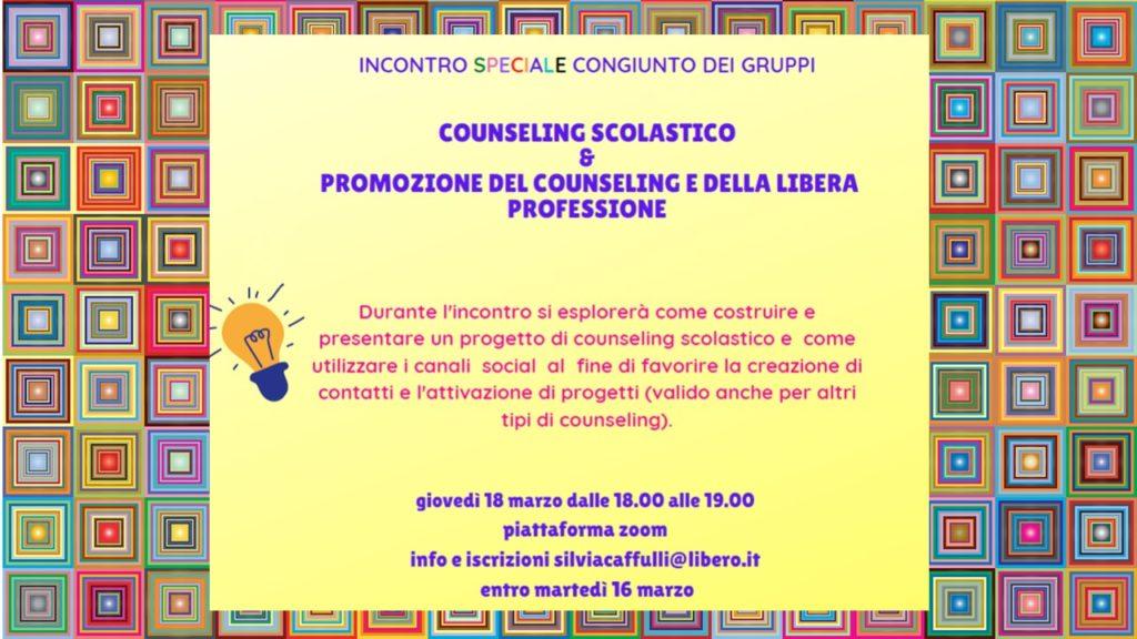 SpEcIaLe incontro congiunto tra 2 gruppi CNCP per il counseling